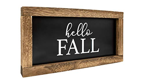 Cam N Honey Reversible Hello FallMerry Christmas Rustic Wood Sign Farmhouse Home Thanksgiving And Holiday Decor 0 2