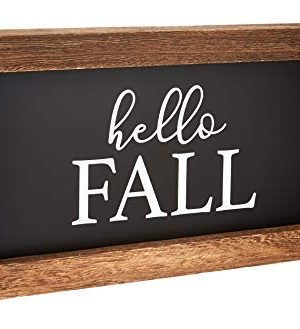 Cam N Honey Reversible Hello FallMerry Christmas Rustic Wood Sign Farmhouse Home Thanksgiving And Holiday Decor 0 3 300x329
