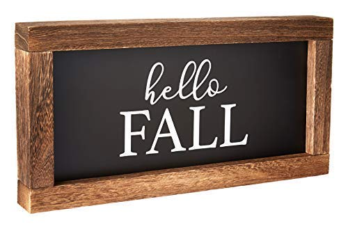 Cam N Honey Reversible Hello FallMerry Christmas Rustic Wood Sign Farmhouse Home Thanksgiving And Holiday Decor 0 3