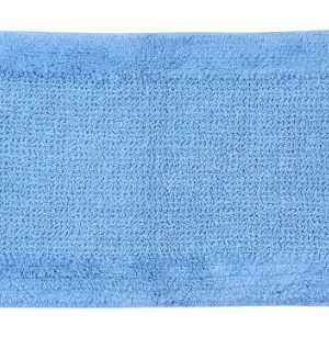 Castle Hill Naples 100 Cotton Bath Rug With Spray Latex Backing20X30 Medium Blue 0 300x317