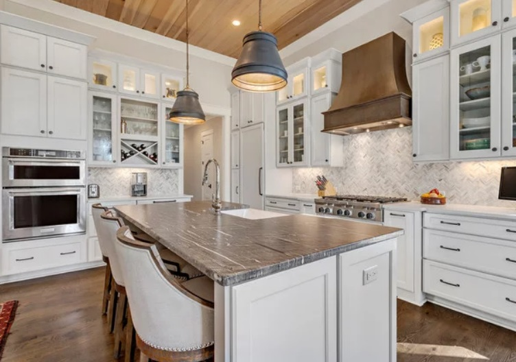 Charleston Farmhouse Kitchen by Coastal Signature Homes