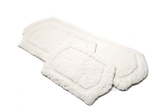 Chesapeake Paradise 3 Pc Memory Foam Ivory Bath Rug Set 43260 22x60 21x34 17x24 0 1