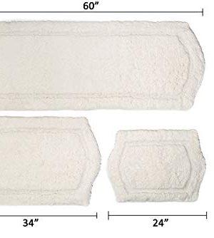 Chesapeake Paradise 3 Pc Memory Foam Ivory Bath Rug Set 43260 22 X60 21 X34 17 X24 Farmhouse Goals