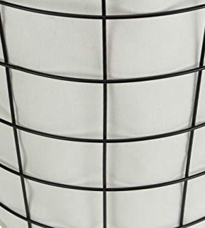 Cheungs 16S005 Lined Metal Wire Basket With Handles Black 0 2 300x333