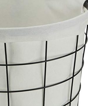 Cheungs 16S005 Lined Metal Wire Basket With Handles Black 0 3 300x360