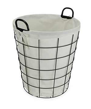 Cheungs 16S005 Lined Metal Wire Basket With Handles Black 0 300x360