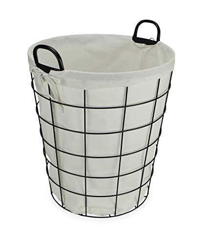 Cheungs 16S005 Lined Metal Wire Basket With Handles Black 0