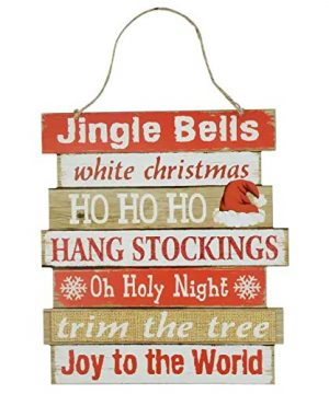 Christmas Decorations Celebrate A Holiday Wood Signs Wall Decor Farmhouse Indoor Outdoor Country Yard Porch Plaque Winter Hanging With Cord Let It SnowJingle Bells Wooden Hanger Decore Set Of 2 Pack 0 0 300x360