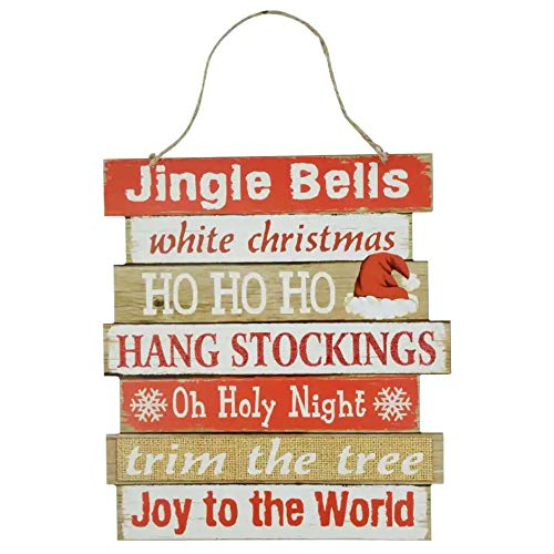 Christmas Decorations Celebrate A Holiday Wood Signs Wall Decor Farmhouse Indoor Outdoor Country Yard Porch Plaque Winter Hanging With Cord Let It SnowJingle Bells Wooden Hanger Decore Set Of 2 Pack 0 0