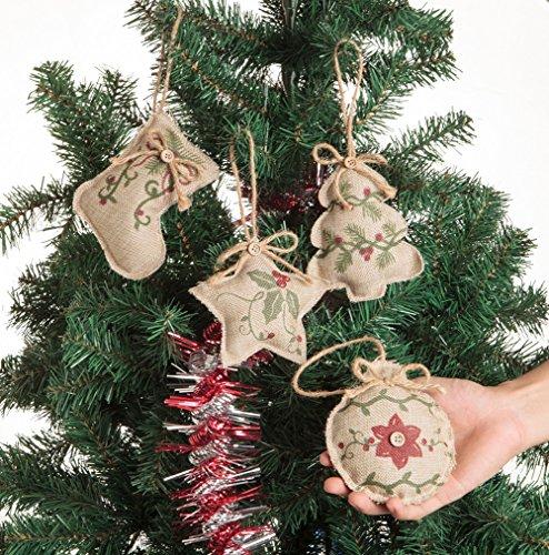 Christmas Tree Ornaments Stocking Decorations 8pcs Christmas Stocking Tree Ball Star Holiday Party Decor 0 0