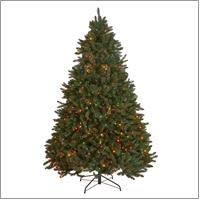 Christopher Knight Home 307355 7 Foot Norway Spruce Pre Lit LED Or Unlit Hinged Artificial Christmas Tree 0
