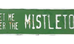 Col House Designs Meet Me Under The Mistletoe Metal Street Sign For Vintage Christmas Decor 0 300x178