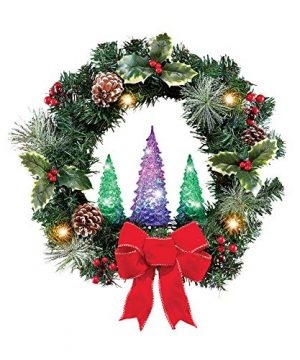 Collections Etc Color Changing Christmas Tree Wreath 0 300x360