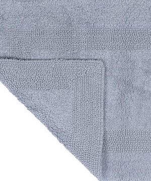 Cotton Bath Mat Plush 100 Percent Cotton 24x60 Long Bathroom Runner Reversible Soft Absorbent And Machine Washable Rug By Lavish Home Silver 0 0 300x360