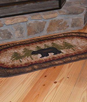 Cozy Cabin CC5276 Birch Bear Non Skid Rug 20x44 Wedge Brown 0 1 300x349