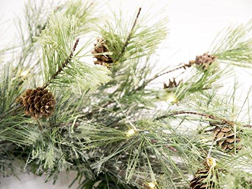 CraftMore Smokey Pine 24 Christmas Wreath With Firefly Lights 0 0