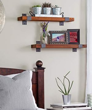 Craftsy Lyfe Rustic Floating Shelves Wooden Farmhouse Wall Mounted Shelf Industrial Reclaimed Natural Wood Decorative Bookshelf For Bathroom Bedroom Toilet Storage Kitchen Office Living Room Decor 0 2 300x360
