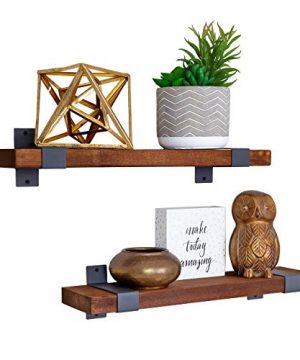 Craftsy Lyfe Rustic Floating Shelves Wooden Farmhouse Wall Mounted Shelf Industrial Reclaimed Natural Wood Decorative Bookshelf For Bathroom Bedroom Toilet Storage Kitchen Office Living Room Decor 0 300x360