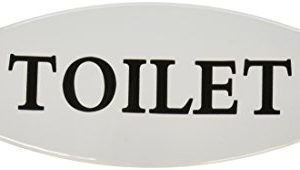 Creative Co Op Metal Toilet Bathroom Sign White 0 300x170