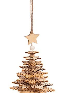 Cypress Home Wood Christmas Tree 3D Ornament 0 240x360
