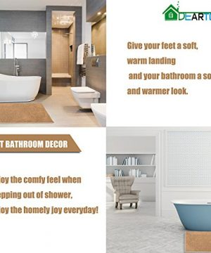DEARTOWN Non Slip Shaggy Bathroom Rug47x275 InchesMarzipanSoft Microfibers Chenille Bath Mat With Water Absorbent Machine Washable 0 3 300x360