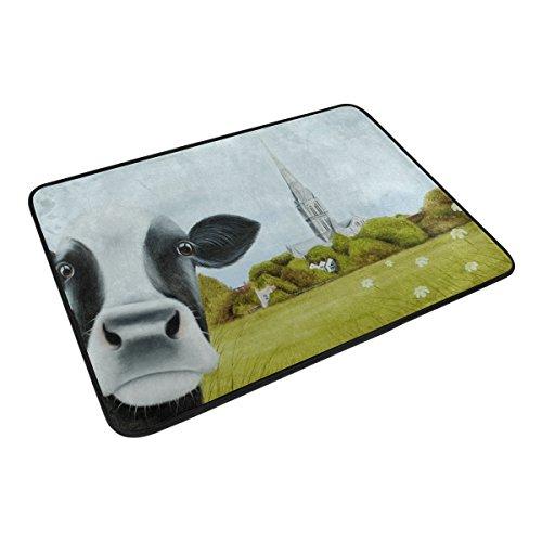 DJROW Farmhouse Cow Shower Curtain And Bath Mat SetIncludes 72x72 Bathtub Waterproof Curtains And 236x157 Floor Mat 0 4