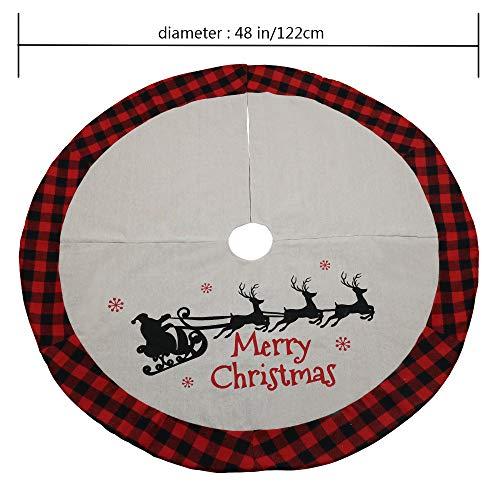 DXZMNCA 48inch Xmas Tree Skirt Holiday Tree Ornaments Christmas Tree Skirt For Christmas Day 0 4