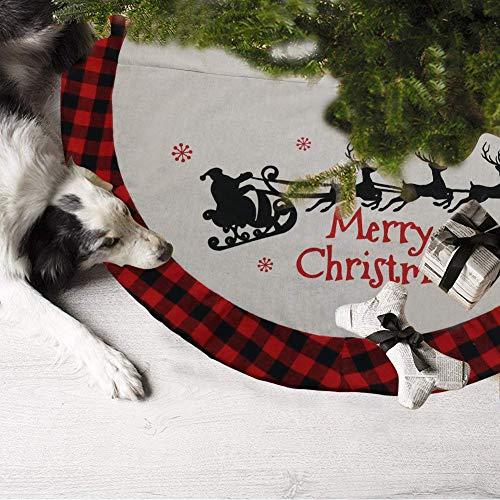DXZMNCA 48inch Xmas Tree Skirt Holiday Tree Ornaments Christmas Tree Skirt For Christmas Day 0