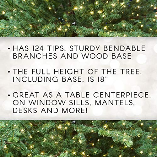 Darice Mini Canadian Pine Tree With Wood Base 1pc Green Spread Holiday Dcor Around Your Home Artificial Tree Has 124 Tips And Works Great With Mini Ornaments And Lights 18 0 1