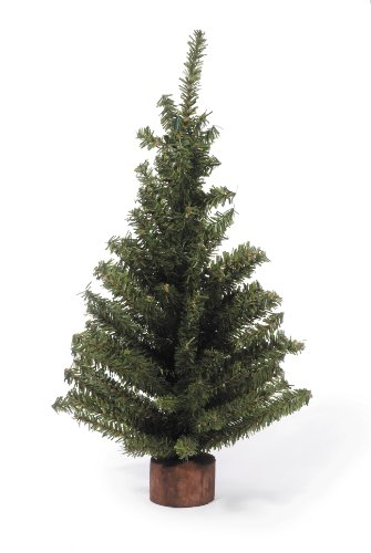 Darice Mini Canadian Pine Tree With Wood Base 1pc Green Spread Holiday Dcor Around Your Home Artificial Tree Has 124 Tips And Works Great With Mini Ornaments And Lights 18 0