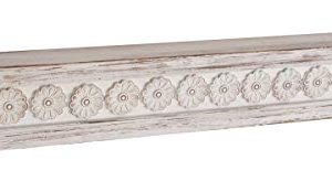 Deco 79 Rustic Wood And Resin Floating Shelf 5W X 6H White Brown 0 300x164