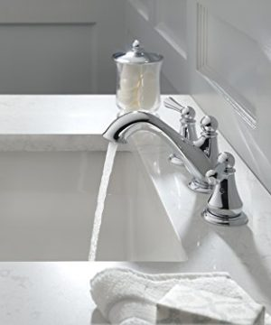 Delta Faucet Haywood 2 Handle Widespread Bathroom Faucet With Drain Assembly Chrome 35999LF 0 0 300x360