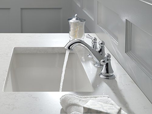 Delta Faucet Haywood 2 Handle Widespread Bathroom Faucet With Drain Assembly Chrome 35999LF 0 0
