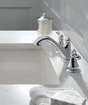 Delta Faucet Haywood 2 Handle Widespread Bathroom Faucet With Drain Assembly Chrome 35999LF 0 1 300x360