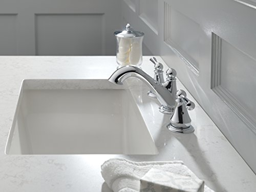 Delta Faucet Haywood 2 Handle Widespread Bathroom Faucet With Drain Assembly Chrome 35999LF 0 1