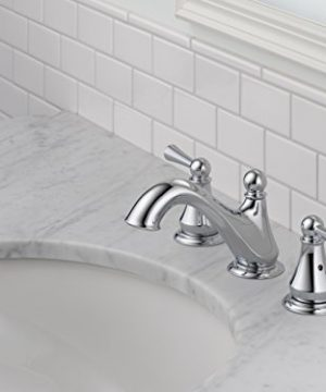 Delta Faucet Haywood 2 Handle Widespread Bathroom Faucet With Drain Assembly Chrome 35999LF 0 2 300x360