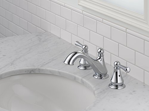 Delta Faucet Haywood 2 Handle Widespread Bathroom Faucet With Drain Assembly Chrome 35999LF 0 2