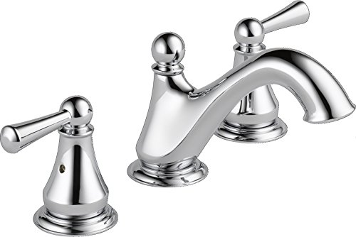 Delta Faucet Haywood 2 Handle Widespread Bathroom Faucet With Drain Assembly Chrome 35999LF 0