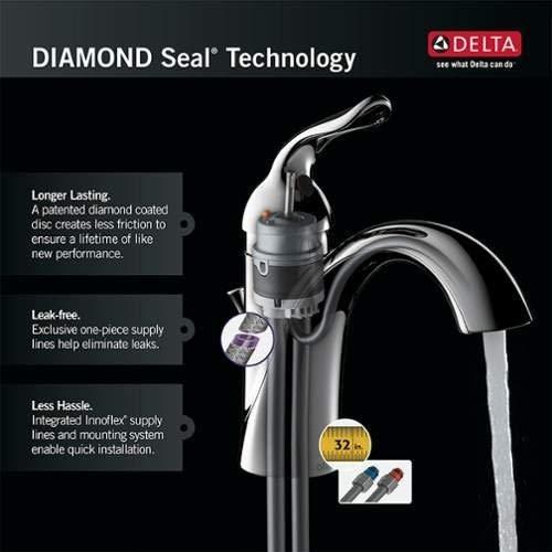 Delta Faucet Linden Single Handle Vessel Bathroom Faucet With Diamond Seal Technology Champagne Bronze 794 CZ DST 0 1