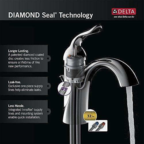 Delta Faucet Linden Single Handle Vessel Bathroom Faucet With Diamond Seal Technology Champagne Bronze 794 CZ DST 0 3
