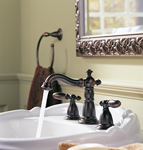 Delta Faucet Victorian 2 Handle Widespread Bathroom Faucet With Diamond Seal Technology And Metal Drain Assembly Venetian Bronze 3555 RBMPU DST 0 0