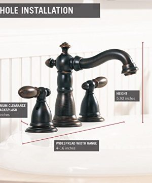 Delta Faucet Victorian 2 Handle Widespread Bathroom Faucet With Diamond Seal Technology And Metal Drain Assembly Venetian Bronze 3555 RBMPU DST 0 1 300x360