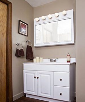 Design House 545095 Wyndham White Semi Gloss Vanity Cabinet With 2 Doors And 2 Drawers 36 Inches Wide By 21 Inches Deep By 315 Inches Tall 0 0 300x360