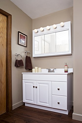 Design House 545095 Wyndham White Semi Gloss Vanity Cabinet With 2 Doors And 2 Drawers 36 Inches Wide By 21 Inches Deep By 315 Inches Tall 0 0