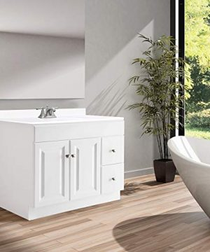 Design House 545095 Wyndham White Semi Gloss Vanity Cabinet With 2 Doors And 2 Drawers 36 Inches Wide By 21 Inches Deep By 315 Inches Tall 0 2 300x360