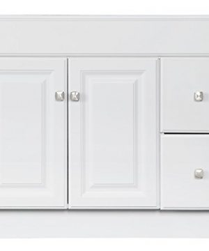 Design House 545095 Wyndham White Semi Gloss Vanity Cabinet With 2 Doors And 2 Drawers 36 Inches Wide By 21 Inches Deep By 315 Inches Tall 0 4 300x360