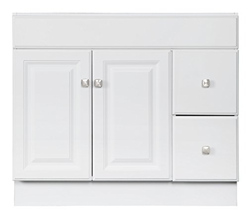 Design House 545095 Wyndham White Semi Gloss Vanity Cabinet With 2 Doors And 2 Drawers 36 Inches Wide By 21 Inches Deep By 315 Inches Tall 0 4