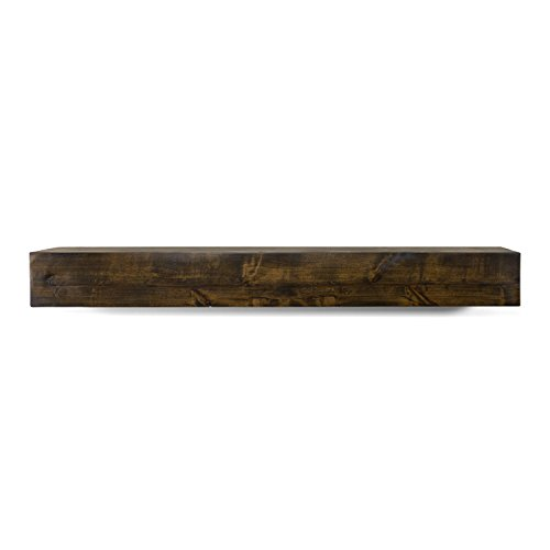 Dogberry Collections Modern Farmhouse Mantel Shelf 48 Dark Chocolate 0