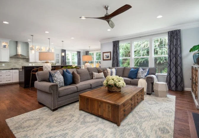 Double Diamond Cabinets Family Room by The Suite Shoppe Interiors
