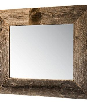 Drakestone Designs Mirror With Barnwood Frame Wall Mount Handmade Rustic Reclaimed Wood 22 X 26 Inches Natural 0 300x360
